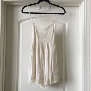 Abercrombie & Fitch romper - white lace - Small